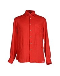 Fedeli Shirts Shirts Men Red