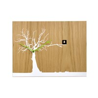 Progetti Cucuruku Wall Clock Oak Wood White