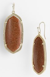 Kendra Scott Women's 'Elle' Drop Earrings Goldstone Gold