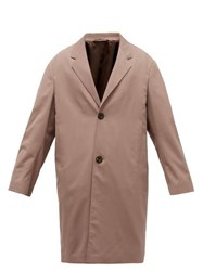 Christophe Lemaire Chesterfield Single Breasted Twill Coat Brown