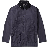 Barbour Washed Bedale Jacket Blue