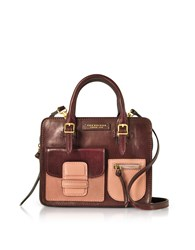 The Bridge Handbags Burgundy Genuine Leather Mini Tote Bag