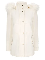 Planet Ivory Wool Duffle Coat Neutral