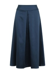 Hotsquash Satin Midi Skirt In Clever Fabric Teal