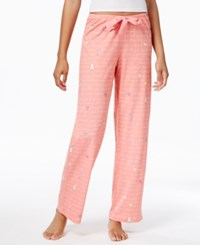 Hue Printed Cotton Jersey Pajama Pants Conch Shell