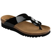 Scholl Kenna Toe Post Flip Flops Black
