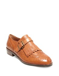 Design Lab Lord And Taylor Ice Wingtip Toe Leather Shoes Tan
