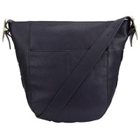 John Lewis Sophia Leather Hobo Bag Navy