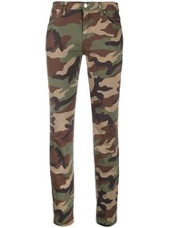 P.A.R.O.S.H. Camouflage Print Skinny Jeans Green