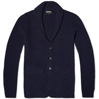 Barbour X Land Rover Clearwell Knitted Blazer Navy