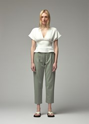 Rachel Comey 'S Peak Top In White Size 0 100 Polyester