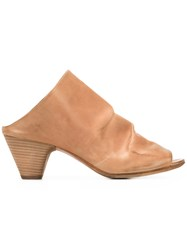 Marsell Slip On Ruched Sandals Brown