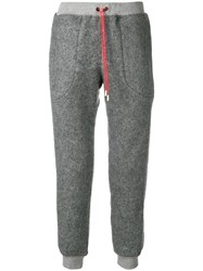 Julien David Drawstring Track Pants Grey