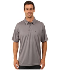 Quiksilver Waterman Waterman Collection Water Polo 2 Knit Polo Mano Men's Short Sleeve Pullover Gray