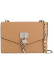 Donna Karan Elissa Large Shoulder Bag Neutrals