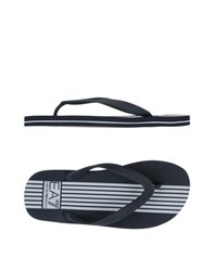 Emporio Armani Footwear Thong Sandals Men Black