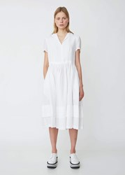 Aspesi Short Sleeve Linen Shirtdress White