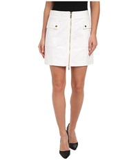 Michael Michael Kors Cargo Zip Mini Skirt White Women's Skirt