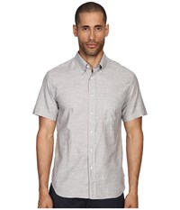 Billy Reid Short Sleeve Tuscumbia Button Up Shirt Fog