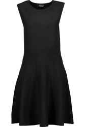 Magaschoni Silk Blend Jersey Mini Dress Black