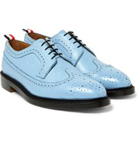 Thom Browne Pebble Grain Leather Longwing Brogues Light Blue