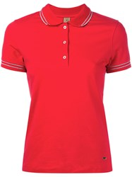 Fay Polo Shirt Women Cotton Spandex Elastane L Red