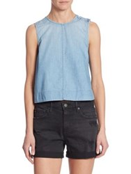 Ag Jeans Lynn Chambray Shell Top Veriance Blue