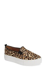 Halogen Baylee Platform Slip On Sneaker Leopard Haircalf