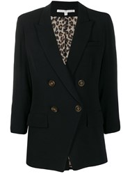 Veronica Beard Double Breasted Blazer Black