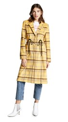 C Meo Collective Hopes Up Coat Yellow Check