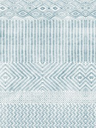 Nj Interiors Berbera Ottanio Wallpaper Blue