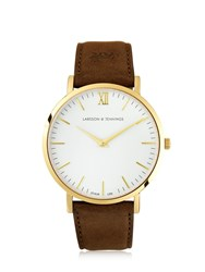 Larsson And Jennings Lugano 40Mm Watch W Leather Band Brown
