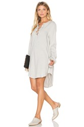 Bella Dahl Bell Sleeve Lace Up Dress Gray