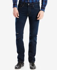 Levi's 511 Slim Fit Ripped Jeans Bjorn Destructed