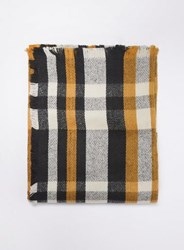 Dorothy Perkins Graphic Checked Scarf Yellow