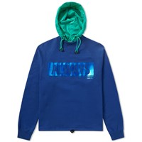 Valentino Always Metallic Logo Hooded Sweat Blue