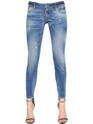 Dsquared Twiggy Medium Waist Washed Denim Jeans