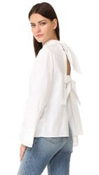 C Meo Collective String Along Shirt White
