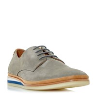 Bertie Boombox Colour Pop Wedge Shoes Grey