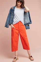 Anthropologie High Tide Wide Legs Bright Red