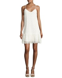 Ella Moss Medallion Crochet Lace Mini Dress Neutral