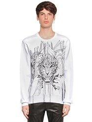 Just Cavalli Leopard Embroidered Cotton Sweatshirt