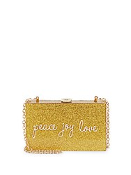 La Regale Peace Joy Love Convertible Clutch Gold