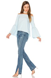 525 America Bell Sleeve Off Shoulder Top Blue