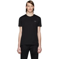 Dolce And Gabbana Black Essential Logo Patch T Shirt