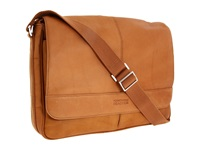 Kenneth Cole Reaction Risky Business Single Gusset Messenger Bag Tan Messenger Bags
