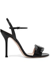 Gucci Dionysus Leather Sandals Black