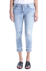 Kut From The Kloth Connie Distressed Frayed Hem Ankle Skinny Jeans Esthetic