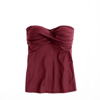 J.Crew D Cup Twist Front Swing Tankini Top Red Currant
