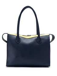 Mara Mac Led Lights Leather Tote Bag Blue
